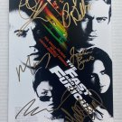 The Fast and the Furious cast signed autographed 8x12 photo Paul Walker Vin Diesel photograph