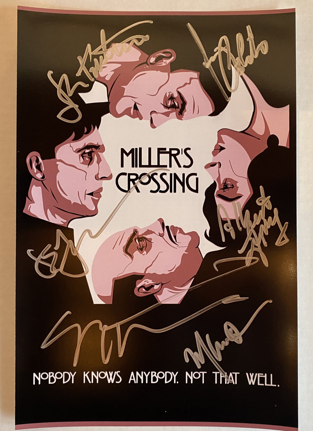 Miller's Crossing cast signed autographed 8x12 photo Gabriel Byrne Millers