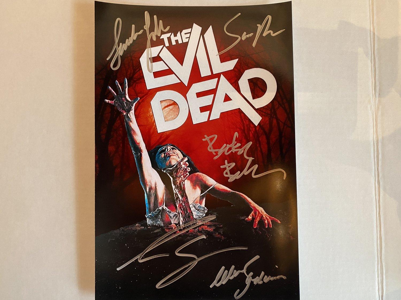 The Evil Dead cast signed autographed 8x12 photo Bruce Campbell Sam Raimi