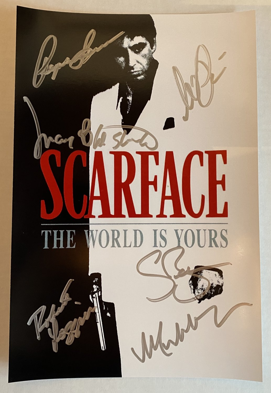 Scarface cast signed autographed 8x12 photo Al Pacino Michelle Pfeiffer