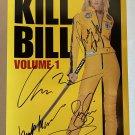 Kill Bill Volume 1 cast signed autographed 8x12 photo Uma Thurman David Carradine
