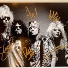 Guns N' Roses band signed autographed 8x12 photograph Slash Axl Rose COA photo