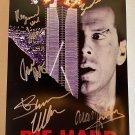 Die Hard cast signed autographed 8x12 photo Bruce Willis Alan Rickman