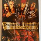 Pirates of the Caribbean cast signed autographed 8x12 photo Johnny Depp