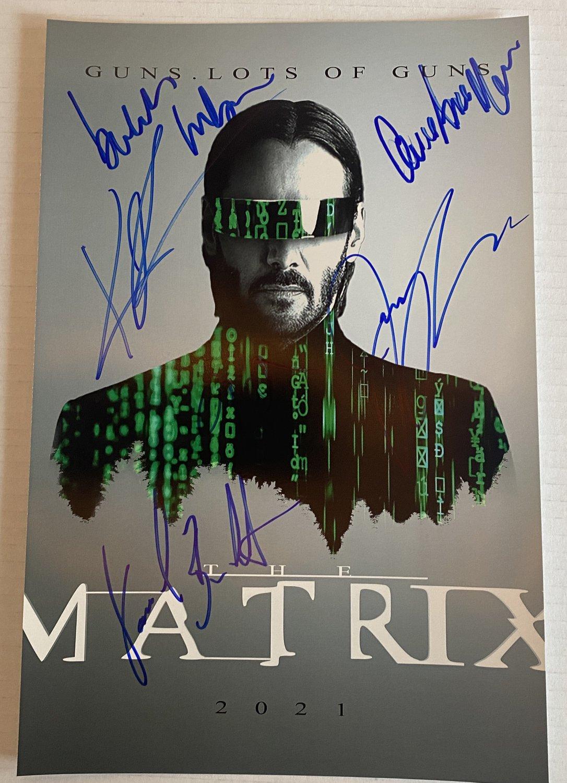 The Matrix 4 Keanu Reeves cast signed autographed 8x12 photo photograph