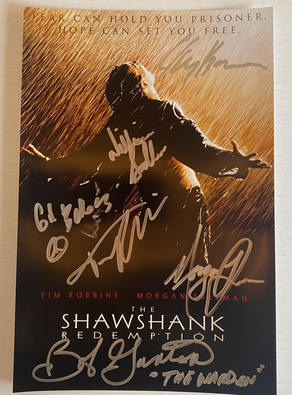 The Shawshank Redemption cast signed autographed 8x12 photo Morgan Freeman Tim Robbins