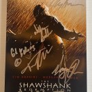 The Shawshank Redemption cast signed autographed 8x12 photo Morgan Freeman Tim Robbins