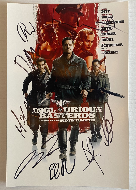 Inglorious Basterds cast signed autographed 8x12 photo Brad Pitt photograph