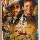 HOOK cast signed autographed 8x12 photo Robin Williams Dustin Hoffman photograph