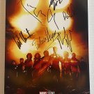 Eternals cast signed autographed 8x12 photo Richard Madden Angelina Jolie MARVEL