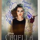 Cruella cast signed autographed 8x12 photo Emma Stone Emma Thompson photograph