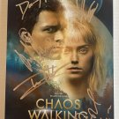 Chaos Walking cast signed autographed 8x12 photo Tom Holland Daisy Ridley photograph