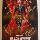 Black Widow cast signed autographed 8x12 photo Scarlett Johansson photograph