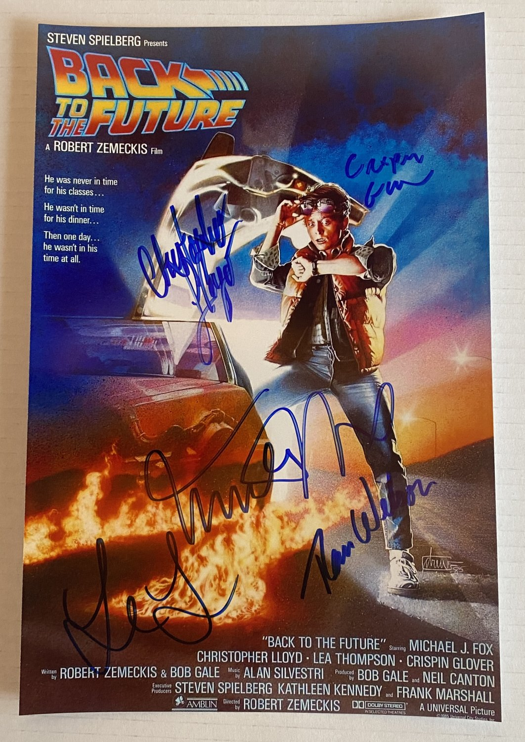 Back to the Future cast signed autographed 8x12 photo Michael J. Fox Lloyd photograph