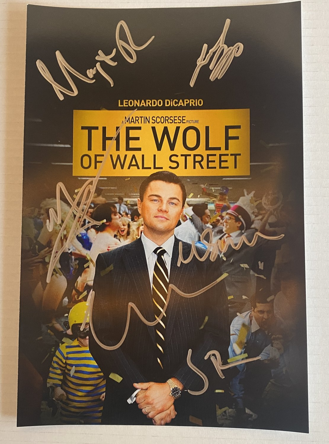 The Wolf of Wall Street cast signed autographed 8x12 photo Leonardo DiCaprio photograph