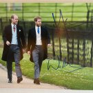 Prince William Prince Harry dual signed autographed 8x12 photo photograph Royalty