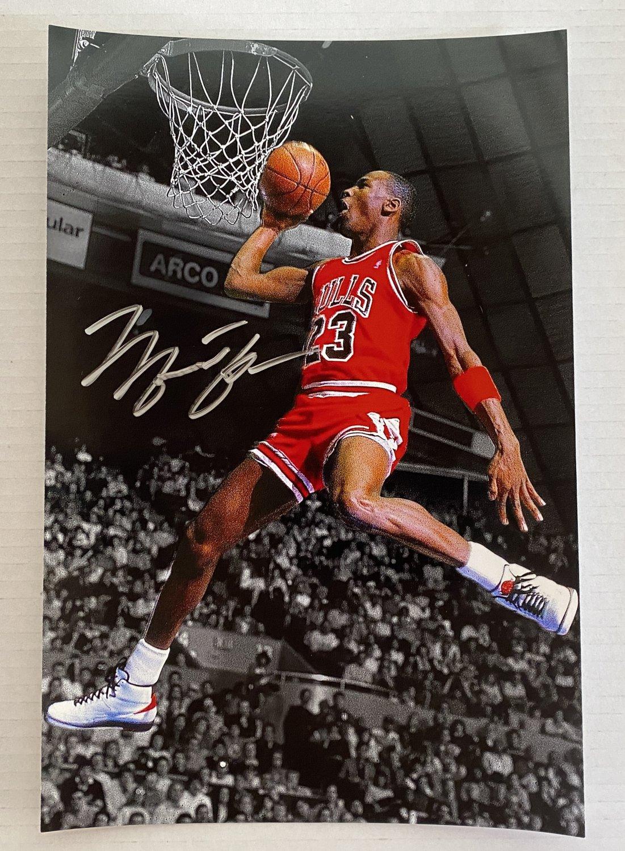 Michael Jordan signed autographed 8x12 photo photograph Chicago Bulls auto