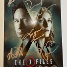 The X-Files cast signed autographed photo photograph David Duchovny Gillian Anderson autographs