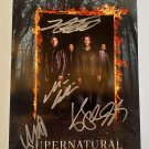 Supernatural cast signed autographed 8x12 photo photograph Jared Padalecki autographs