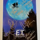 E.T. The Extra Terrestrial cast signed autographed photo photograph Henry Thomas Drew Barrymore