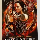 The Hunger Games: Catching Fire cast signed autographed photo photograph Jennifer Lawrence