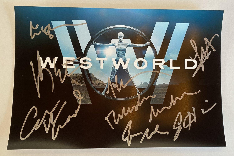 Westworld cast signed autographed 8x12 photo photograph Evan Rachel Wood autographs