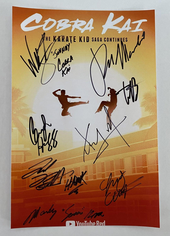 Cobra Kai cast signed autographed 8x12 photo Ralph Macchio autographs photograph