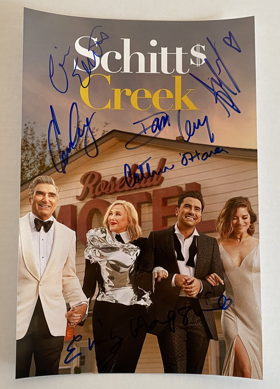 Schitt's Creek cast signed autographed 8x12 photo Eugene Levy autographs photograph