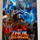 Thor Love and Thunder cast signed autographed 8x12 photo Chris Hemsworth autographs photograph