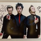 Green Day band signed autographed 8x12 photo Billie Joe Armstrong Dirnt Cool autographs