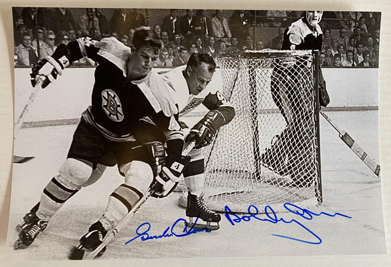 Gordie Howe Bobby Orr dual signed autographed 8x12 photo photograph autographs