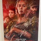 A Quiet Place Part II 2 cast signed autographed 8x12 photo Emily Blunt photograph autographs