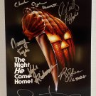 Halloween 1978 cast signed autographed 8x12 photo Jamie Lee Curtis photograph