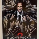 John Wick Chapter 2 cast signed autographed 8x12 photo Keanu Reeves photograph