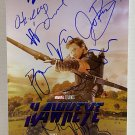 Hawkeye cast signed autographed 8x12 photo Jeremy Renner Marvel autographs