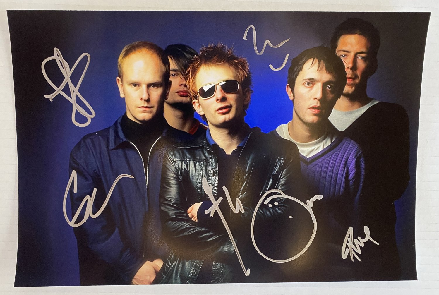 Radiohead band signed autographed 8x12 photo Thom Yorke autographs