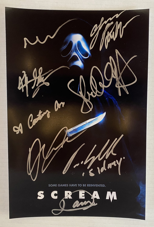 Scream 5 cast signed autographed 8x12 photo Neve Campbell autographs photograph