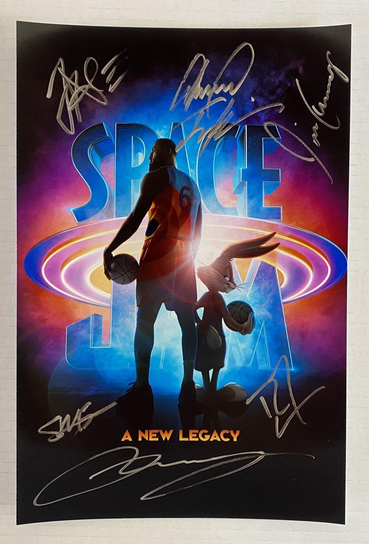 Space Jam A New Legacy cast signed autographed 8x12 photo Lebron James autographs