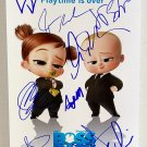 The Boss Baby Family Business cast signed autographed 8x12 photo Amy Sedaris autographs