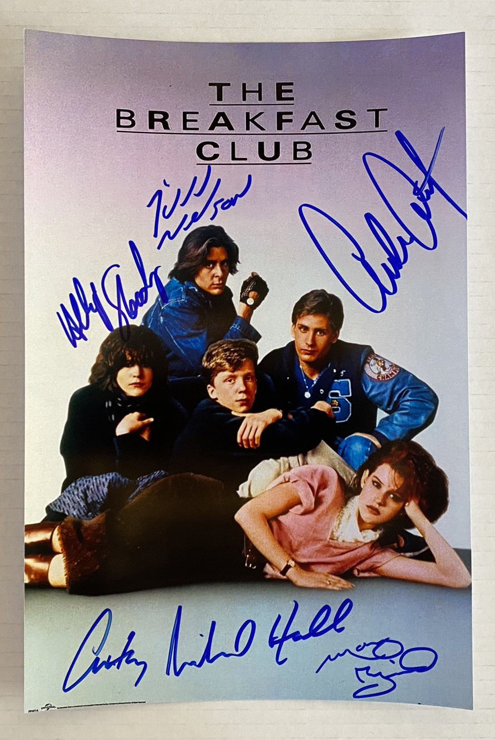 The Breakfast Club cast signed autographed 8x12 photo Judd Nelson autographs