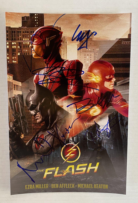 The Flash cast signed autographed 8x12 photo Ezra Miller Ben Affleck autographs