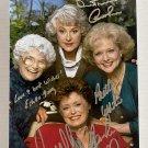 The Golden Girls cast signed autographed 8x12 photo Bea Arthur Betty White autographs
