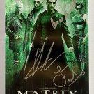 The Matrix 1999 cast signed autographed 8x12 photo Keanu Reeves autographs