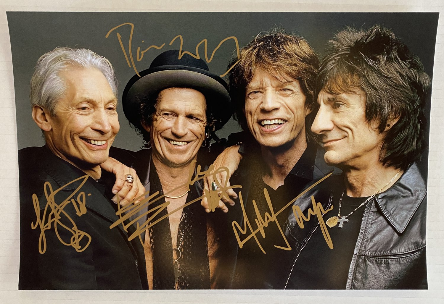 The Rolling Stones band signed autographed 8x12 photo Mick Jagger autographs