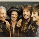 The Rolling Stones band signed autographed 8x12 photo Mick Jagger Charlie Watts autographs