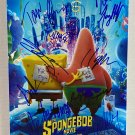 The Spongebob Movie Sponge on the run cast signed 8x12 photo Tom Kenny autographs