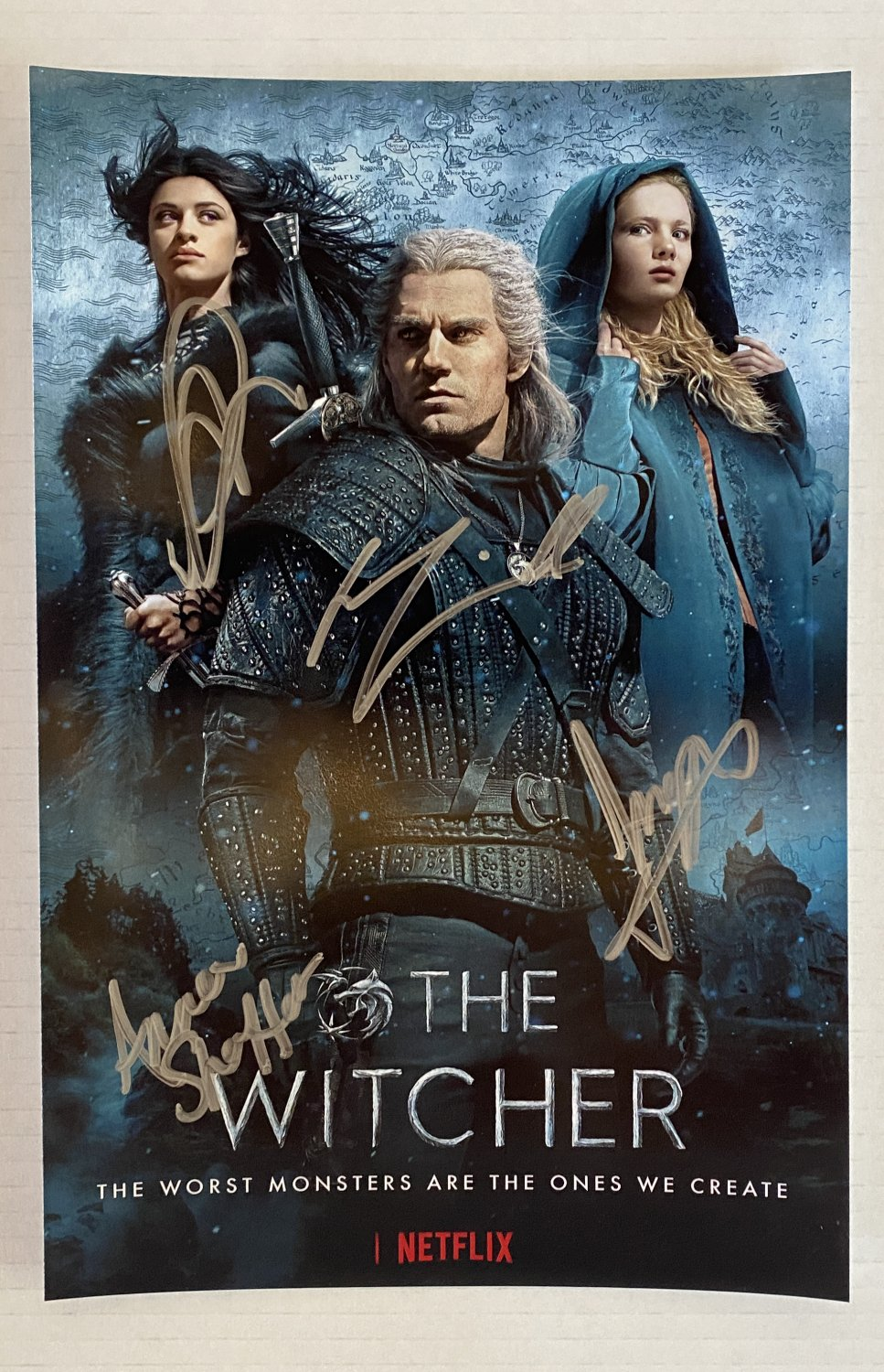 The Witcher cast signed autographed 8x12 photo Henry Cavill Anna Shaffer autographs