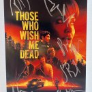 Those Who Wish Me Dead cast signed autographed 8x12 photo Angelina Jolie autographs