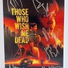 Those Who Wish Me Dead cast signed autographed 8x12 photo Angelina Jolie autographs