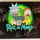 Rick and Morty cast signed autographed 8x12 photo photograph Justin Roiland Dan Harmon